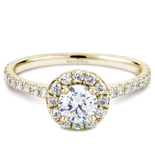 NORTHERN LOVE Yellow Gold 0.88ct Halo Engage Ring (EA3)