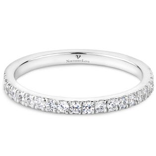 NORTHERN LOVE White Gold 0.28 ct Wedding Band (EA3)