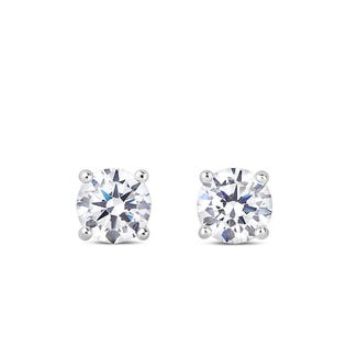 NORTHERN LOVE Boucles d'oreille solitaire en or blanc 14K 0.10 ct (EA3)