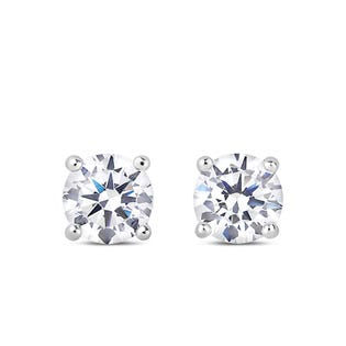 NORTHERN LOVE Boucles d'oreille solitaire en or blanc 14 K 0.30 ct (EA3)