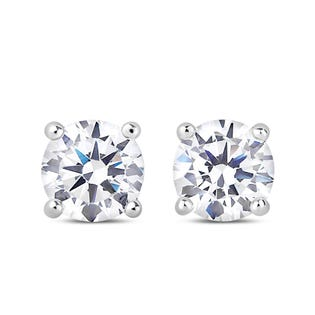 NORTHERN LOVE Boucles d'oreille solitaire en or blanc 14 K 0.70 ct (EA3)