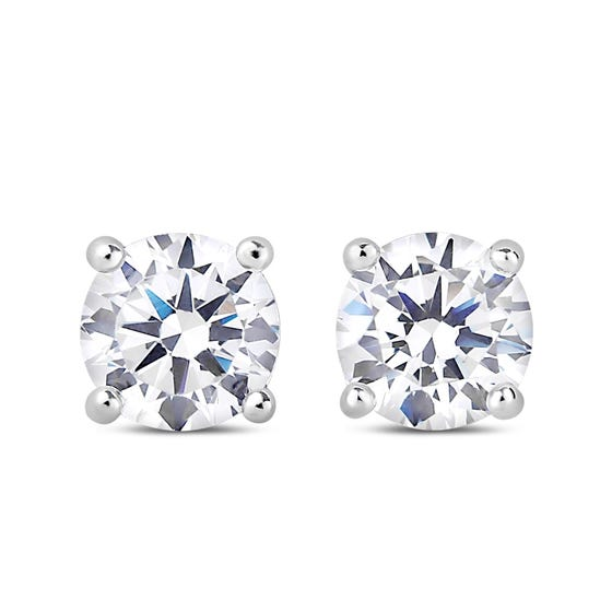 NORTHERN LOVE White Gold Diamond Earrings Total Carat Weight 0.70ct (EA3)