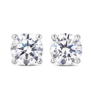NORTHERN LOVE Boucles d'oreille solitaire en or blanc 14 K 1.00 ct (EA3)