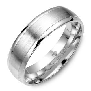 NORTHERN LOVE Platinum 6 mm Men's Wedding Band (EA3)