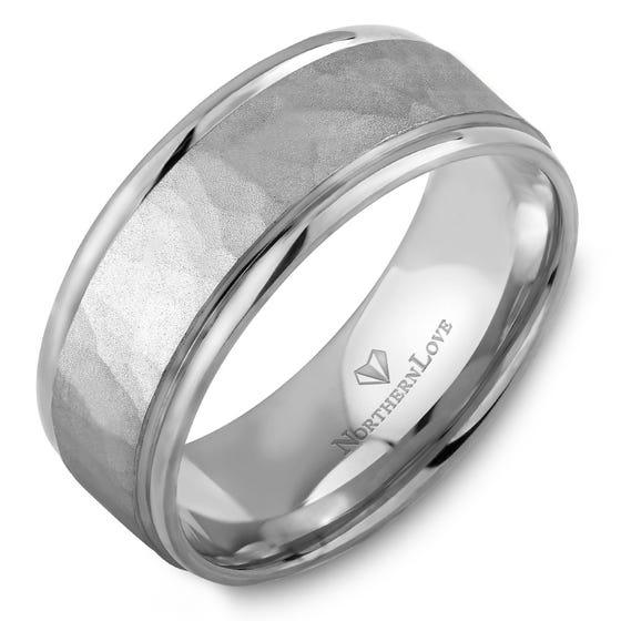 NORTHERN LOVE Platinum 8 mm Men's Wedding Band (EA3)
