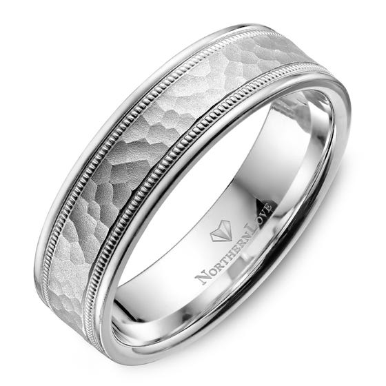 Northern Love Platinum 6 mm Men's Wedding Band (EA3)