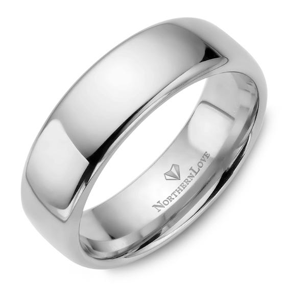 NORTHERN LOVE Platinum 7 mm Men's Wedding Band (EA3)