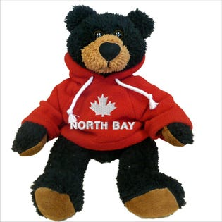 Ourson noir North Bay en peluche de 10 po