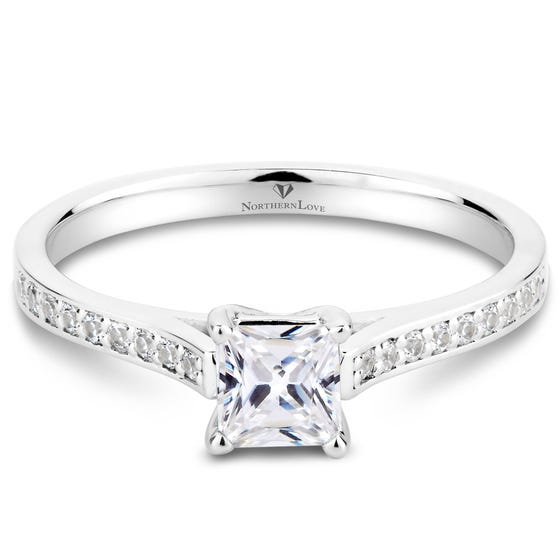 NORTHERN LOVE White Gold Diamond Solitaire Engagement Ring Total Carat Weight 0.66ct (EA3)