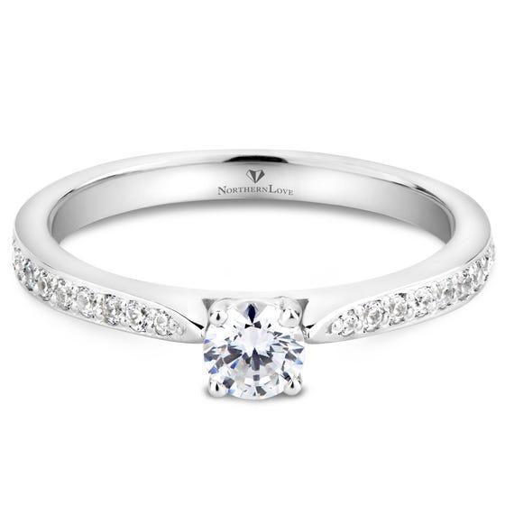 NORTHERN LOVE Platinum Diamond Engagement Ring Total Carat Weight 0.40ct (EA3)