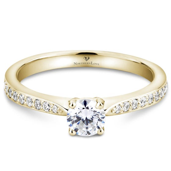 NORTHERN LOVE Yellow Gold Diamond Engagement Ring Total Carat Weight 0.48ct (EA3)