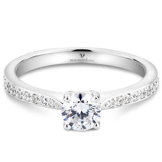 NORTHERN LOVE Platinum Diamond Engagement Ring Total Carat Weight 0.65ct (EA3)