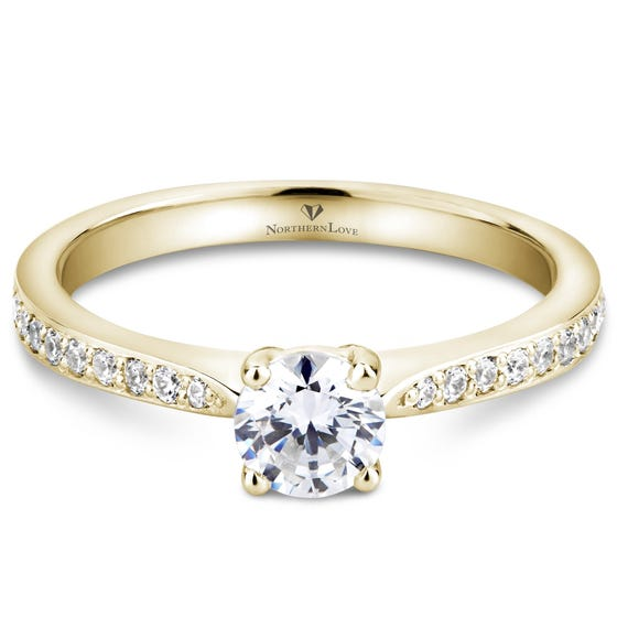 NORTHERN LOVE Yellow Gold Diamond Engagement Ring Total Carat Weight 0.65ct (EA3)