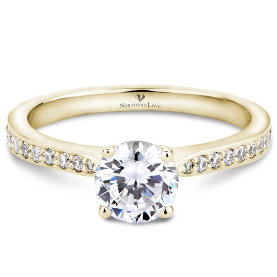 Northern Love Yellow Gold Diamond Engagement Ring Total Carat Weight 0.90ct (EA3)