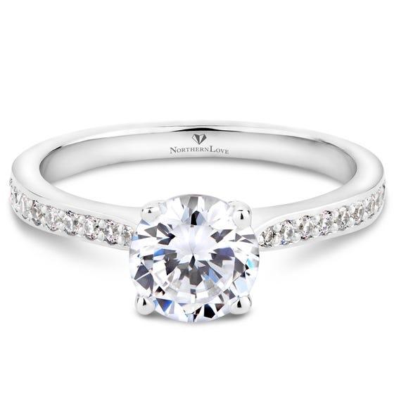 NORTHERN LOVE Platinum Brilliant Cut Diamond Engagement Ring Total Carat Weight 1.15ct (EA3)