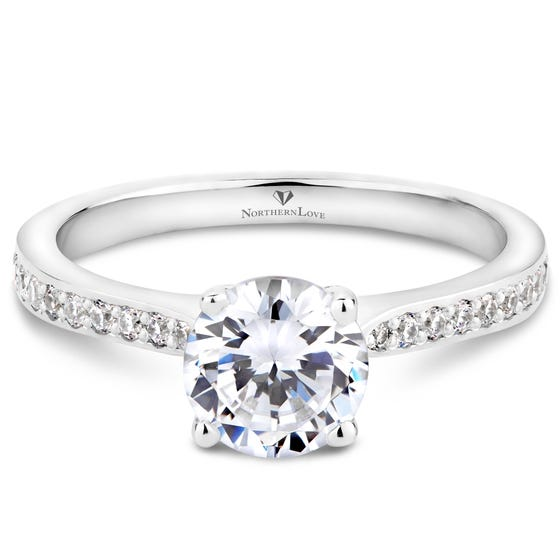 NORTHERN LOVE White Gold Solitaire Diamond Engagement Ring Total Carat Weight 1.15ct (EA3)
