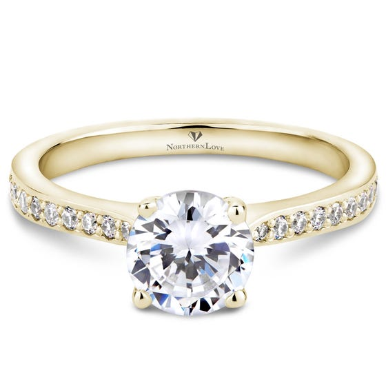 Northern Love Yellow Gold Diamond Engagement Ring Total Carat Weight 1.15ct (EA3)