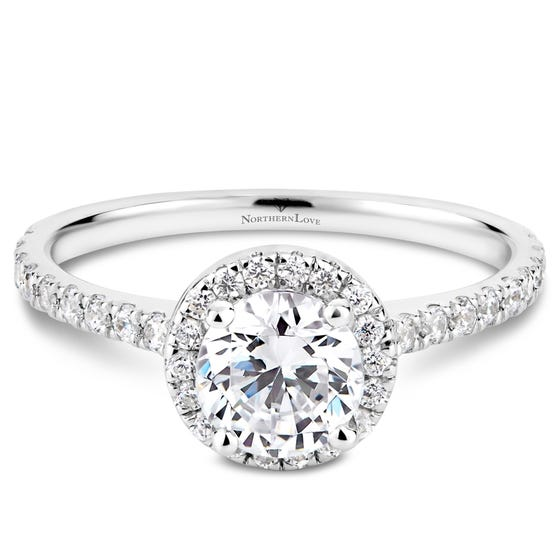 NORTHERN LOVE White Gold 1.14ct Halo Engagement Ring (EA3)