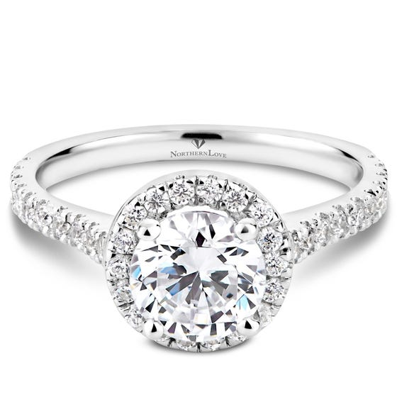 NORTHERN LOVE White Gold 1.41ct Halo Engage Ring (EA3)