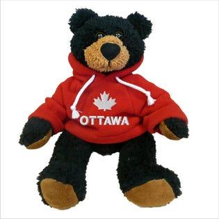 Ourson noir Ottawa en peluche de 10 po