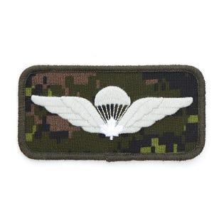 Parachutist Wings White Badge