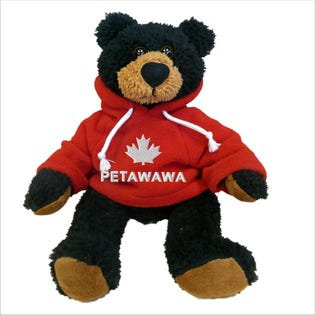 Petawawa Black Bear Plush 10""
