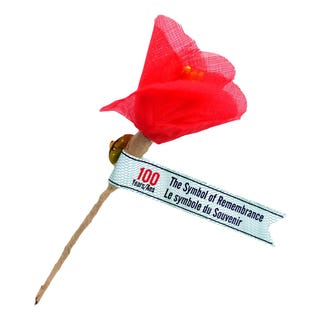 The Royal Canadian Legion Remembrance Poppy Pin