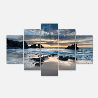 Designart Beautiful Porthcothan Bay Seashore Canva PT14736-373 (EA1)