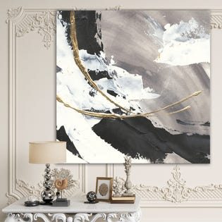 Designart Glam Painted Arcs II Transitional Canvas Artwork PT30509-3PXL (EA1)