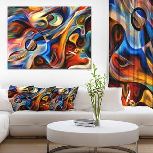 Designart ' Abstract Music and Rhythm(EA1)