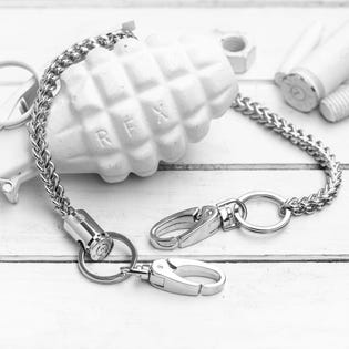 Brass & Unity Quattro Wallet Chain Silver (EA1)