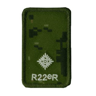 R22eR 2nd Lieutenant Rank Patch
