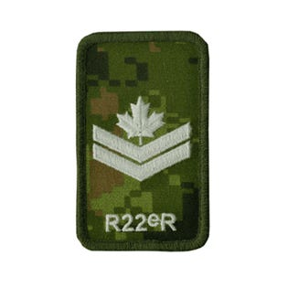 R22eR Master Corporal Rank Patch