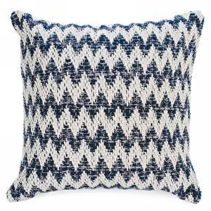 Cushion Blue & Natural Motif