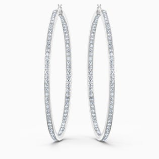Swarovski Rare Hoop Pierced Earrings