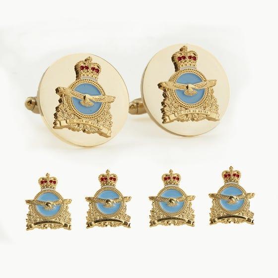 RCAF Insignia Stud and Cufflinks