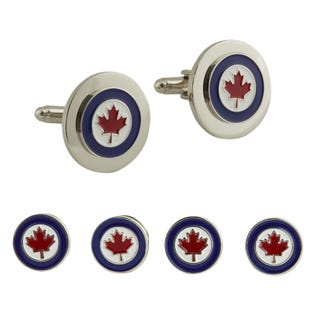 RCAF Roundel Stud and Cufflinks