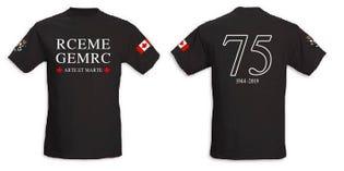 T‑shirt du 75eanniversaire du Corps du GEMRC