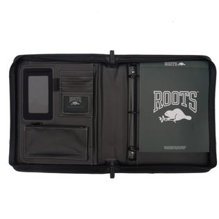 Roots Deluxe Binder With 2 Zipper Rounds Padfolio RQ7911 (EA1)