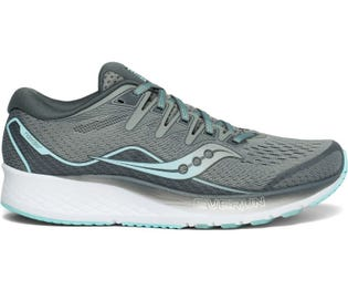 Saucony Women's Ride ISO Running Show Grey/Blue