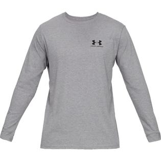 UNDER ARMOUR Sports style Left chest Long Sleeve T-Shirt