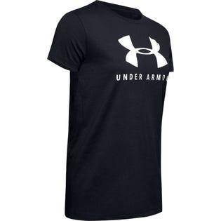 Under Armour Women's Graphic Sportstyle Crew T-Shirt Black
