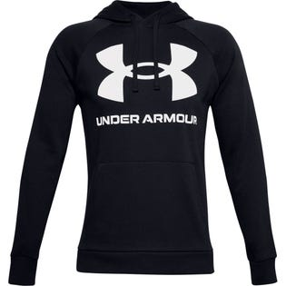 Under Armour Men's Rival Fleece Big Logo Hoodie Black