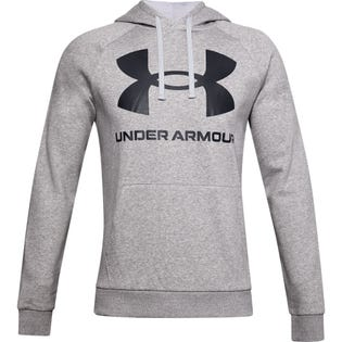 Under Armour Men's Rival Fleece Big Logo Hoodie Grey
