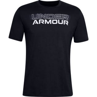 Under Armour Men's Blurry Logo Wordmark Short Sleeve Black