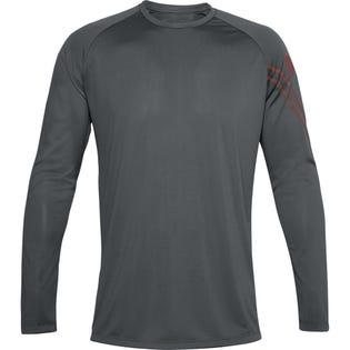 Under Armour Men's Gradient Logo Tech Long Sleeve Grey