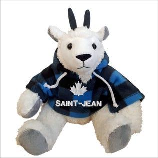 Chèvre Saint-Jean en peluche de 10 po