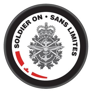 Soldier On Hockey Puck