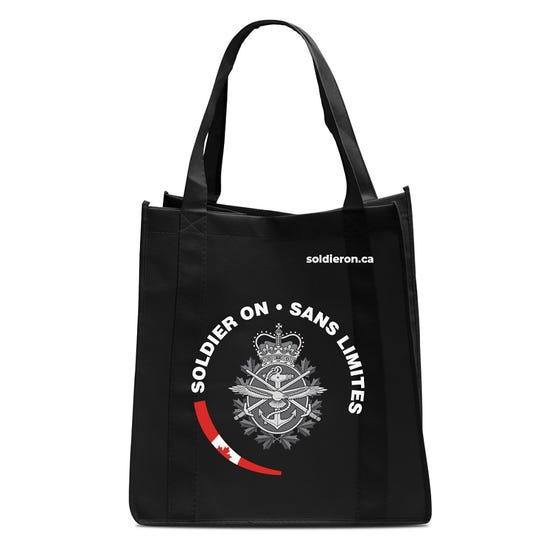 Ecorite Soldier On  Reusable Shopping Bag