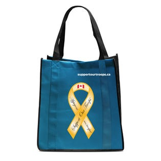 Ecorite Support our Troops Reusable Shopping Bag
